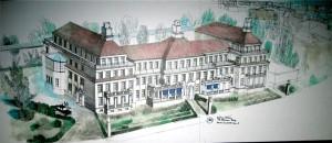 Planung Klinikumbau Berlin-Mitte Zeichnung