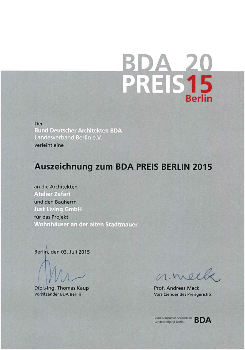 BDA Preis 2015
